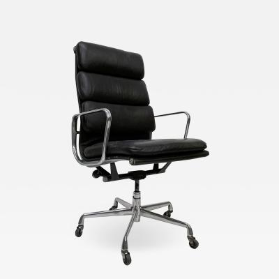 Charles Eames Soft Pad Eames Aluminum Group Office Chair Herman Miller Vitra Brown Leather