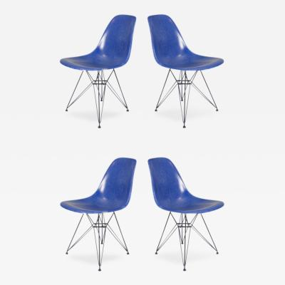 Charles Eames Vintage Blue Eames Chairs