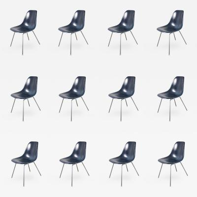 Charles Eames Vintage Navy Blue Eames Shell Chairs