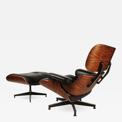 Charles Eames Vintage Rosewood Charles Eames 670 Lounge Chair 671 Ottoman for Herman Miller