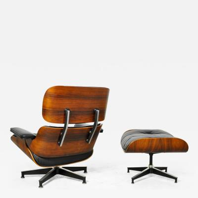 Charles Eames Vintage Rosewood Lounge Chair and Ottoman by Charles Eames