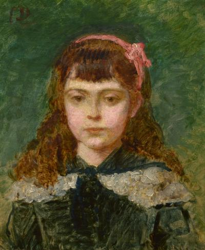 Charles Emile Carolus Duran Girl with a Pink Bow