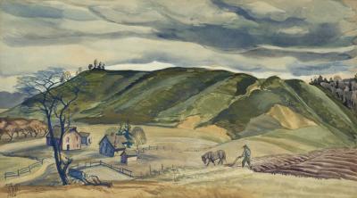 Charles Ephraim Burchfield November Plowing