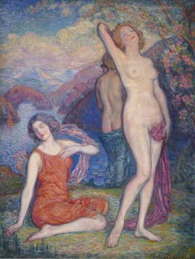 Charles Ezekiel Polowetski THE THREE GRACES Dated 1930 By CHARLES EZEKIAL POLOWETSKI