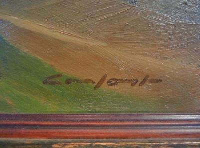 Charles Fraser Comfort Farmland Tecumseh Township Oil Painting on Panel by Charles Fraser Comfort