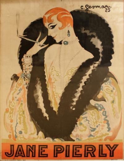 Charles Gesmar Charles Gesmar Original Jane Pierly Poster 1925 Signed