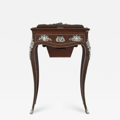 Charles Guillaume Diehl Napoleon III period dressing table mounted with silvered bronze
