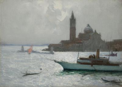 Charles Hoffbauer The Lagoon Venice