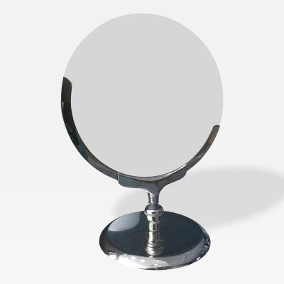 Charles Hollis Jones 1970s Vanity Makeup Mirror with Pivoting Mechanism by Charles Hollis Jones