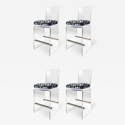 Charles Hollis Jones Charles Hollis Jones COUNTER Stools in Lucite Stainless