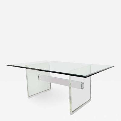 Charles Hollis Jones Charles Hollis Jones Dining Table with Lucite Legs