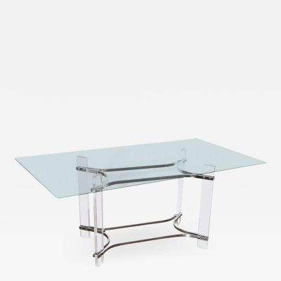 Charles Hollis Jones Charles Hollis Jones Glass and Lucite Console Table