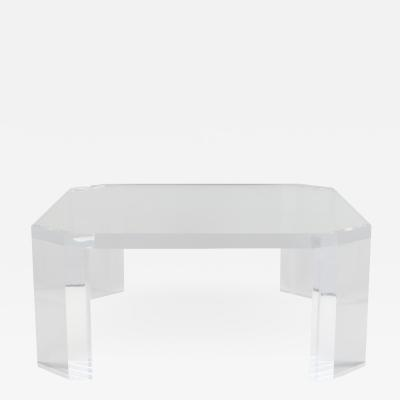 Charles Hollis Jones Charles Hollis Jones LAmi Lucite Coffee Table c 1975