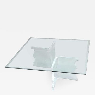 Charles Hollis Jones Charles Hollis Jones Lucite Coffee Table