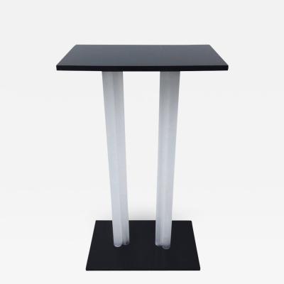 Charles Hollis Jones Charles Hollis Jones Style Pedestal Black and Frosted Lucite