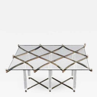 Charles Hollis Jones Charles Hollis Jones Treillage Coffee Table in Polished Nickel