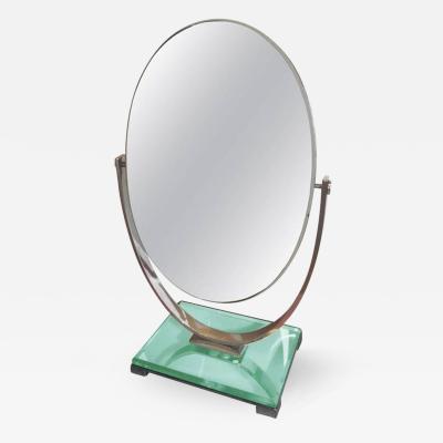 Charles Hollis Jones Charles Hollis Jones Vanity Mirror in Polished Nickel and Lucite