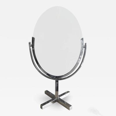 Charles Hollis Jones Charles Hollis Jones X Base Vanity Mirror in Chrome
