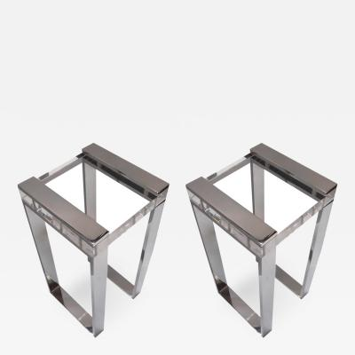 Charles Hollis Jones Chic Pair of Charles Hollis Jones Side Tables