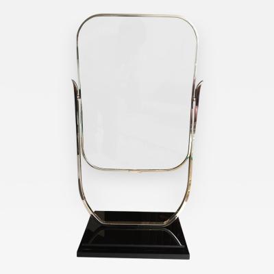 Charles Hollis Jones Deco Style Dual Sided Vanity Mirror in the Style of Charles Hollis Jones
