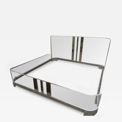 Charles Hollis Jones Excellent Charles Hollis Jones King Size Lucite Waterfall Bed Hollywood Regency