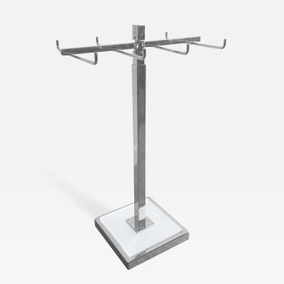 Charles Hollis Jones Height Adjustable Tie Jewelry Holder in Lucite Nickel by Charles Hollis Jones