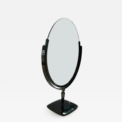 Charles Hollis Jones Large Vanity Mirror in Black Nickel by Charles Hollis Jones