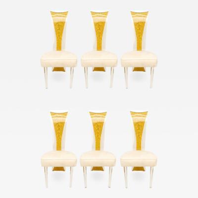 Charles Hollis Jones Lucite Dining Chairs Mid Century Modern Set of 6