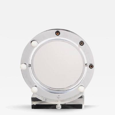 Charles Hollis Jones Lucite and Chrome Makeup Mirror with Magnifying Feature by Charles Hollis Jones