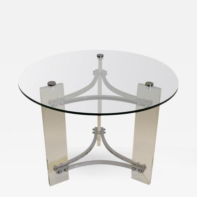 Charles Hollis Jones Lucite and Chrome Table by Charles Hollis Jones