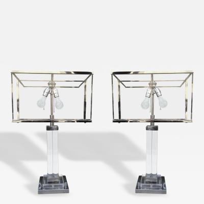 Charles Hollis Jones POST Line Table Lamps by Charles Hollis Jones