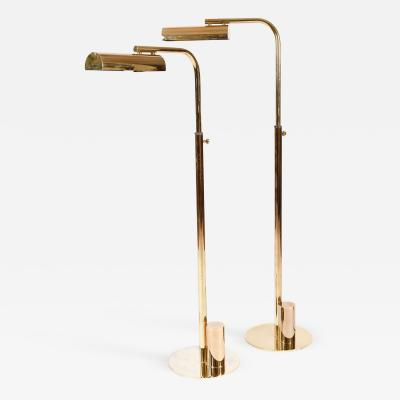 Charles Hollis Jones Pair of 1960s American brass floor lamps by Charles Hollis Jones
