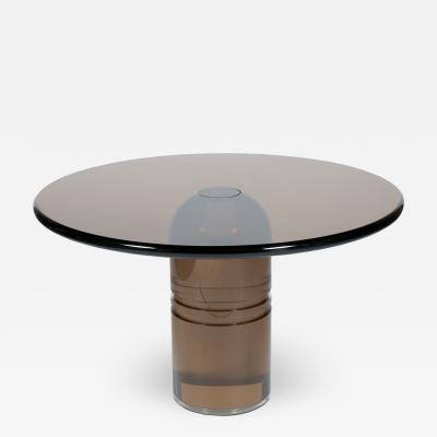 Charles Hollis Jones Rare 1970s Charles Hollis Jones Le Dome Dining Table in Smoked Lucite