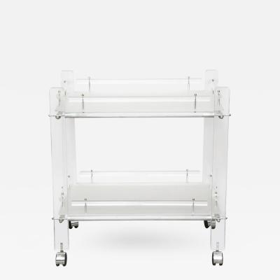 Charles Hollis Jones Two Tier Lucite Bar Cart