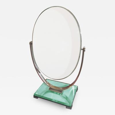 Charles Hollis Jones Vintage Charles Hollis Jones Vanity Mirror in Polished Nickel and Lucite