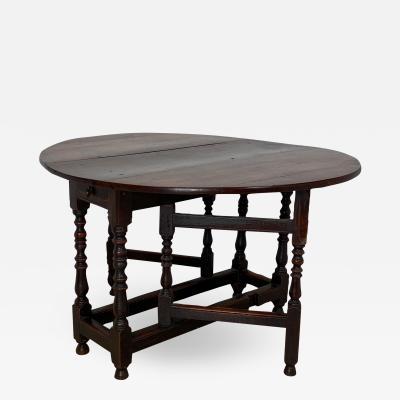 Charles II Oak Drop Leaf Table England 17th Century