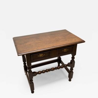 Charles II Oak Stretcher Base Table