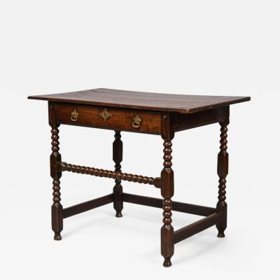Charles II Period Oak Side Table