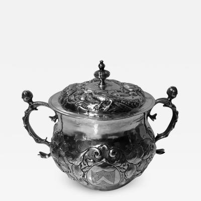 Charles II Silver Caudle Cup with Cover London 1663