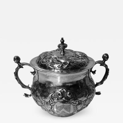 Charles II Silver Caudle Cup with Cover London 1663 TA