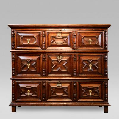 Charles II Walnut Chest of Drawers