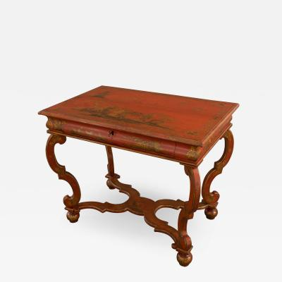 Charles II red japanned center table circa 1680