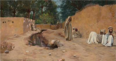 Charles James Theriat Charles James Theriat Orientalist Oil Painting circa 1890