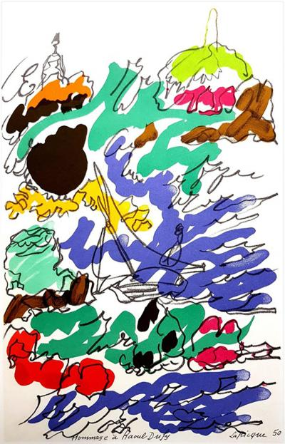 Charles Lapicque Charles Lapicque after Homage to Dufy Lithograph 1965