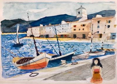 Charles Levier Girl at Fishing Port