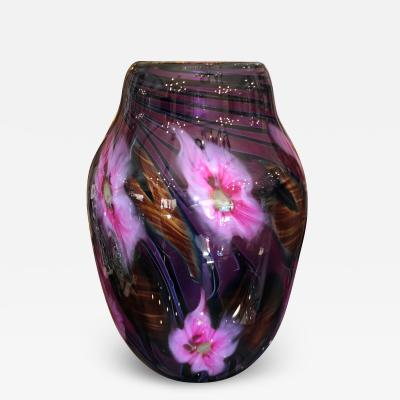 Charles Lotton 1986 Charles Lotton Studio Art Glass Lampwork Vase