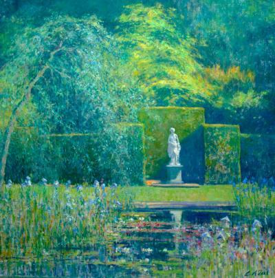 Charles Neal The Pool Garden Knightshayes Devon
