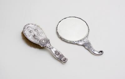 Charles Osborne Sterling Silver Fantasy Vanity Set