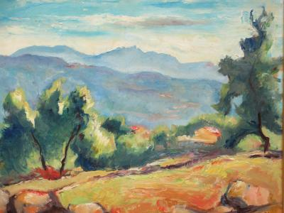 Charles PICART LE DOUX Paysage de Montagne