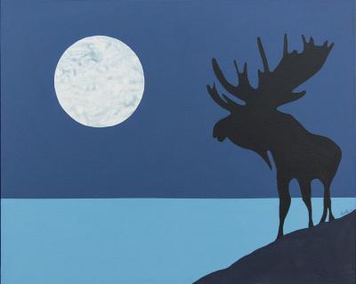 Charles Pachter Moose Lunar